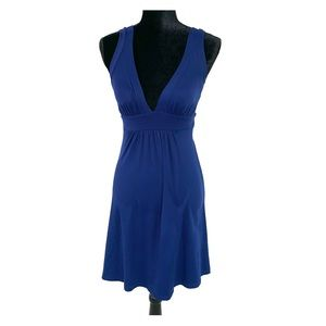 NWOT Susana Monaco Navy Deep-V Fitted Dress